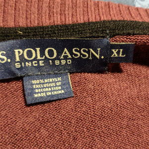 U.S. POLO ASSN. Red Pullover Sweater- Size XL